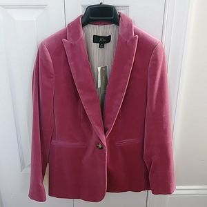 New W Tags Jcrew Velvet Blazer 0p